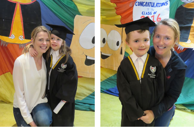 Pre-school graduations at Park Academy Childcare